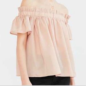 UO Lucca Couture Off Shoulder Voile Top